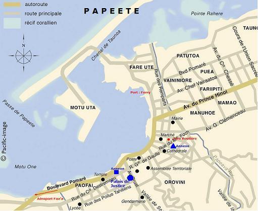 Carte de Papeete